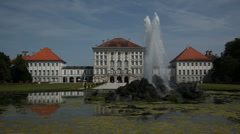 Nymphenburg Palace Fountain Stock Footage