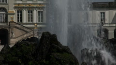 Nymphenburg Palace Fountain Detail - stock footage