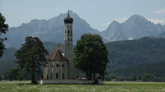 Church in the Alps Stock Footage
