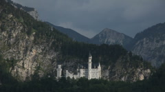 Neuschwanstein Castle From a Distance Stock Footage