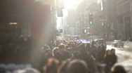 Stock Video Footage of Large anonymous crowd NYC