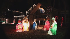 Electronic Nativity on Christmas Night - stock footage