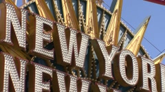 New York, New York Las Vegas Stock Footage