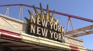 Stock Video Footage of New York, New York Las Vegas Sign