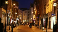 People on Grafton street Stock Footage