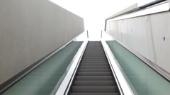 Escalator steps are rising outdoor Stock Footage