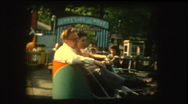 1961 Twister Carnival ride amusement park Stock Footage