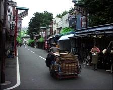 GFSD_Tokyo_Man_Pulling_Cart_TK04 Stock Footage