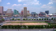Stock Video Footage of Baltimore Inner Harbor Federal Hill