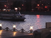 River Promenade. Stock Footage