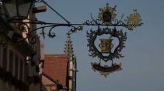 Medieval German Sign Stock Footage