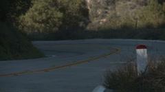 Triple crotch rockets uphill curve Stock Footage