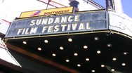 Egyptian Theater during Sundance film festival Stock Footage