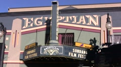 Egyptian Theater during Sundance film festival - stock footage
