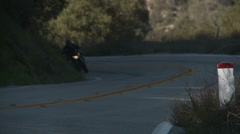 Motorcycle uphill 1 Stock Footage