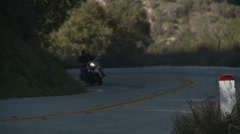 Motorcycle uphill 2 Stock Footage