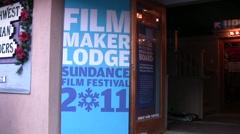 Filmmaker Lodge at Sundance Film Festival 2011 Stock Footage