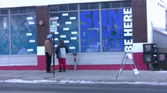 Kimble Arts Center During Sundance Film Festival Stock Footage