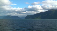 Sailing across the fjords in Norway Stock Footage