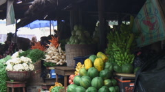 Africa: inside produce market Stock Footage
