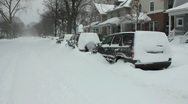 Chicago Blizzard 2011 (01) Stock Footage