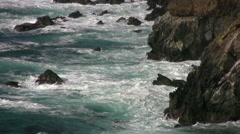 Rugged Coast off Big Sur in winter Stock Footage