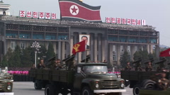 Army show in Pyongyang Stock Footage