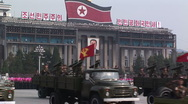 Stock Video Footage of Army show in Pyongyang