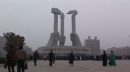 Stock Video Footage of Pyongyang worker's party monument
