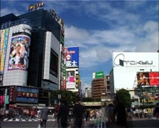 Timelapse of the Famous Shibuya Pedestrian Crossing, Tokyo GFSD Stock Footage