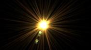 Sun flare Stock Footage