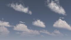 3d sky timelapse cloud created in vue Stock Footage