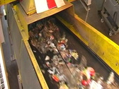 Stock Video Footage of recycling plant