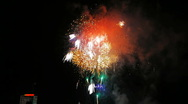Fireworks in the sky Stock Footage