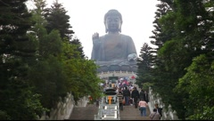 Giant Buddha in Hong Kong Stock Footage