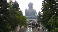 Stock Video Footage of Giant Buddha in Hong Kong