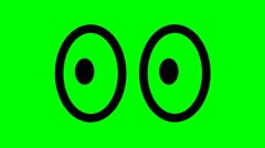 ELLIPTICAL SHAPED EYES 1,Elliptical shaped eyes looking around. Stock Footage