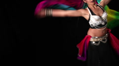 Belly dancer colors Stock Footage