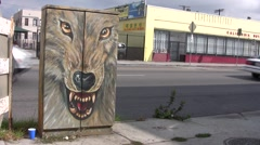 Wolf Face Stock Footage