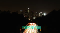 LA 06 Night Timelapse - Dark City Stock Footage