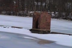 Reservoir Frozen Stock Footage