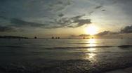 Beautiful sunset Stock Footage