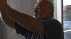 Profile of Carpenter Handyman Stock Footage