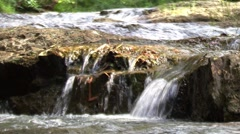 Water on rocks Stock Footage