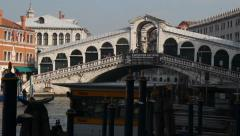 Rialto bridge, Venice - stock footage