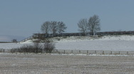 Slow zoom in to snow covered fields. Stock Footage