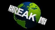 Stock Video Footage of db earth 54 hd1080 news break