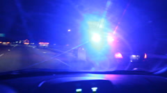 Police Pull Over Car - Speeding Ticket 01 - stock footage