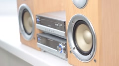 Compact stereo system - stock footage