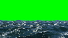Waves of water on green Stock Footage